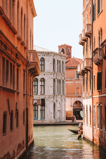 Canal passing through buildings