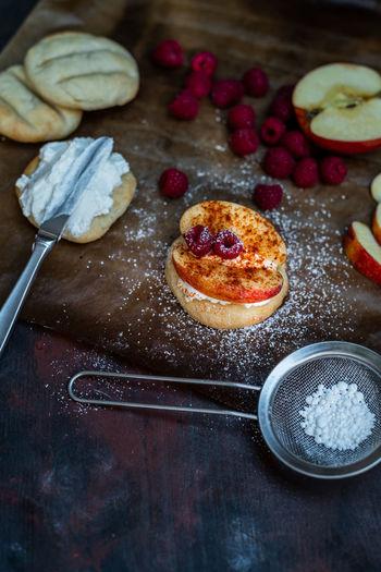 sweet breakfast Homemade Sweet Pie Dessert Fruit Sweet Food Close-up Food And Drink Baking Sheet Pastry Cutter Tart - Dessert Fruitcake Apple Pie Pastry Dough Baking Bread