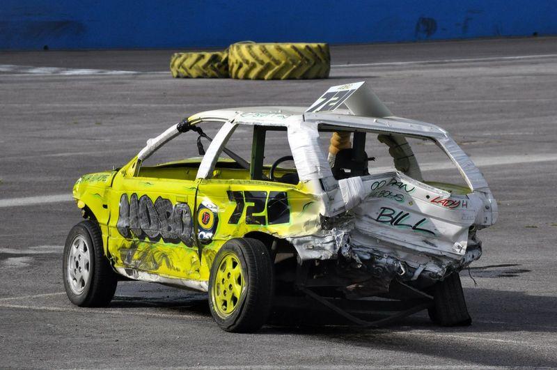 Banger BANGER Broken Car Car Crash Crash Crunch Scrunch Stock Car
