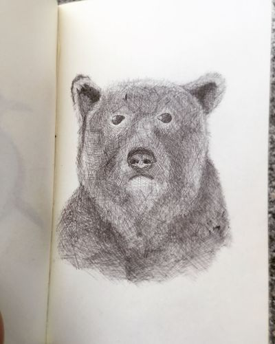 Abstract Blackandwhite Animals Art Vintage Painting Drawing Ink ArtWork Getting Inspired Illustration Black & White Art Gallery Draw Grunge Drawings Abstract Art Hello World Sketching Sketch Moleskine Art, Drawing, Creativity Pen Drawing Bear Portrait