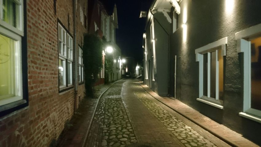 Streets of Jever. Jever Friesland Germany Streets Street Streets Of Jever Night Night Lights Darkness Mystery Ahead Walking Walking Around Reflection Simplicity Illuminated Architecture