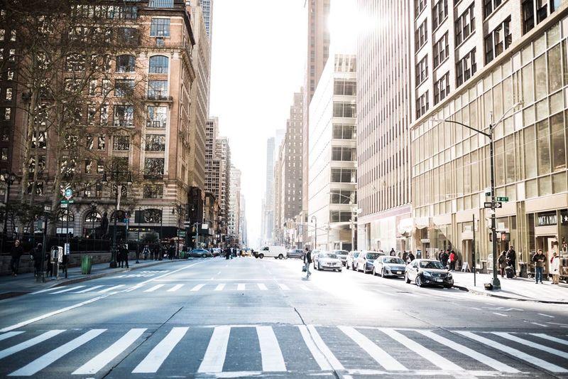 Empty Street covered in beautiful sunlight First Eyeem Photo New York New York City Sunbeam