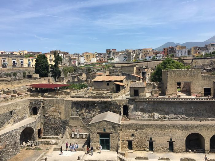 Travel Destinations View From Above View City Destination Travel Ercolano Historical Monuments Ruins History Through The Lens  Ancient Civilization Ancient Architecture Napoli