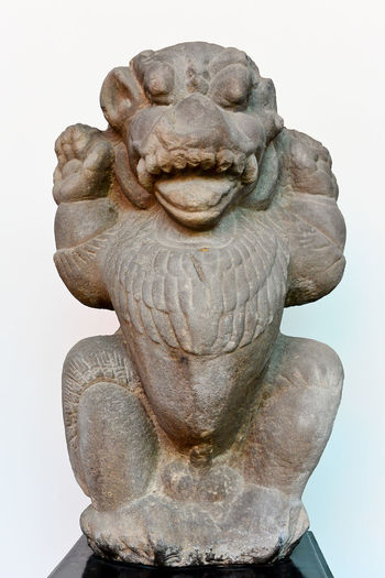 9th -10th Century A.D Ancient Civilization Art Art And Craft Cham With Cease & Seckle Champagne Craft Creativity History Human Representation Indochina Indrapuram Lion Low Angle View Monument Museum No People Outdoors Sculpture Statue Stone Stone Material Taking Photos Thailand Vietnam
