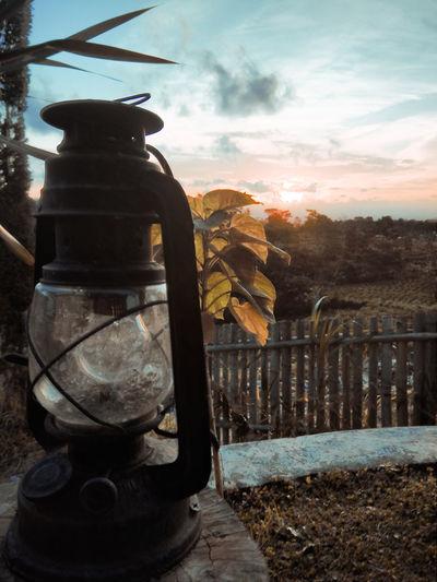Oil lamp in the
