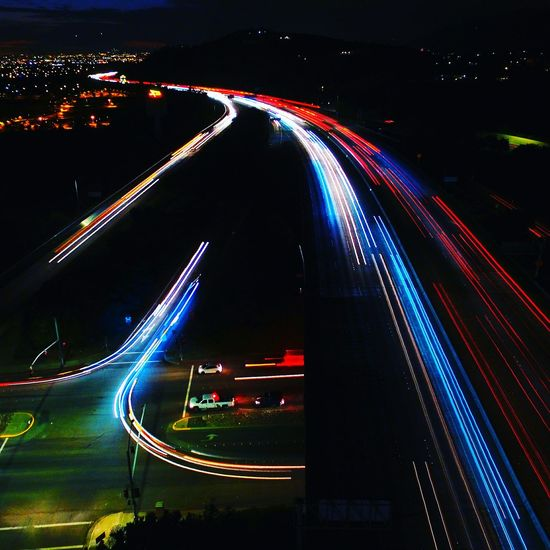 Long Exposure Aerial Photography HighDefinition  Dji Iflydji Multirotor WestCoast Night Photography Dronephotography Nightlife Night Lights SanGabrielValley SanDimas Hello World Traffic Lights Fwy 210fwy Check This Out Taking Photos Relaxing