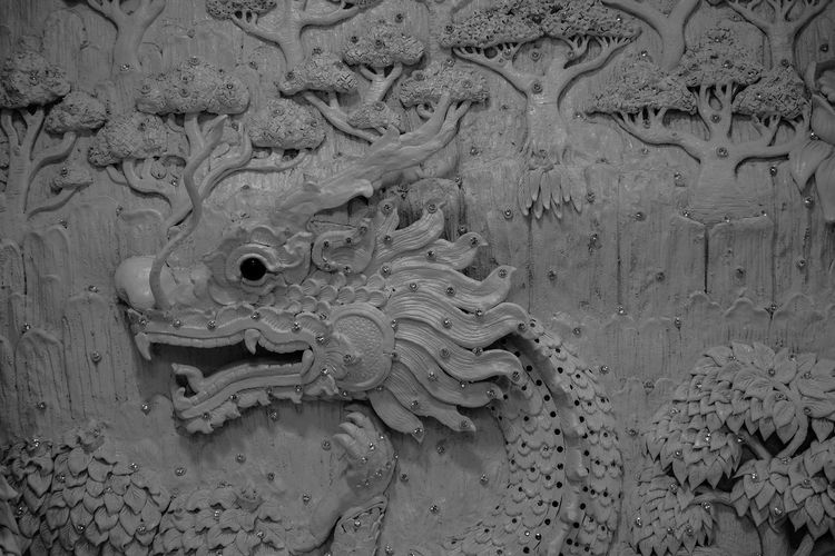 China dragon Art And Craft No People Creativity Representation Close-up Craft Architecture History Animal Themes Animal Wildlife Animal Representation