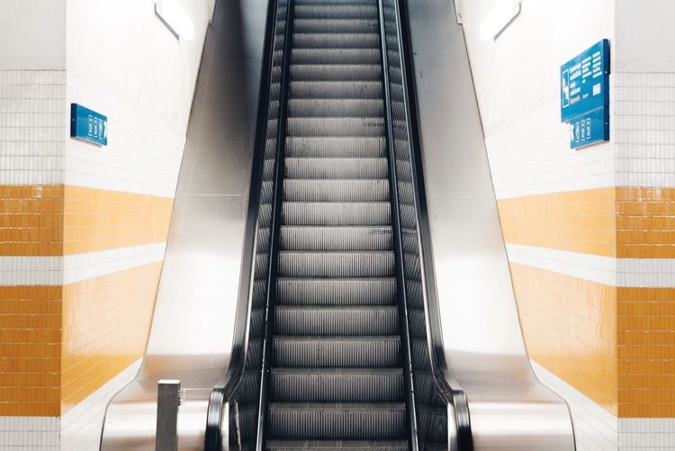 Escalator At Subway Station