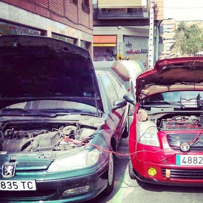 El pequeño arrancando al grande Peugeot406 Citroenc2 C2vts