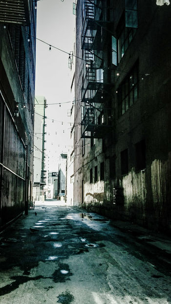 Welcome to the Neibourhood - Real Estate Pavement Concrete Backstreet Dark Dangerous Contrast