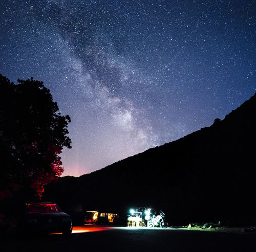 Adventure Astronomy Car Galaxy Illuminated Milky Way Mode Of Transportation Motor Vehicle Mountain Nature Night Rewilding Scenics - Nature Sky Space Star - Space Stargazing Summer Summer Nights Transportation