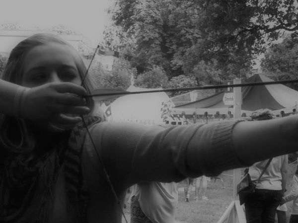 The Amazing Human Body Sports Arrow Girl Black And White Targeting Archery Medieval Capture The Moment Picturing Individuality