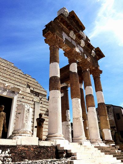 Old Ruin History Ancient Architecture Travel Destinations Ancient Civilization Built Structure Archaeology Architectural Column Sky Low Angle View Damaged Travel Tourism Cloud - Sky Religion Day Outdoors Building Exterior