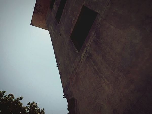 the past Low Angle View Abandoned Outdoors No People Day Architecture Sky