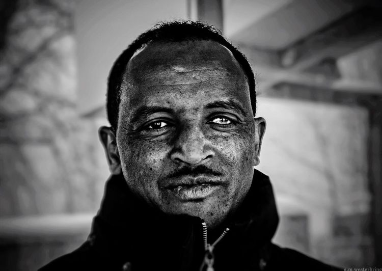 """""""It's a long story."""" Looking At Camera Portrait One Person Real People Headshot Focus On Foreground Indoors  Close-up Human Face Day One Man Only People EyeEmNewHere Blackandwhite Blind Black And White Friday"""