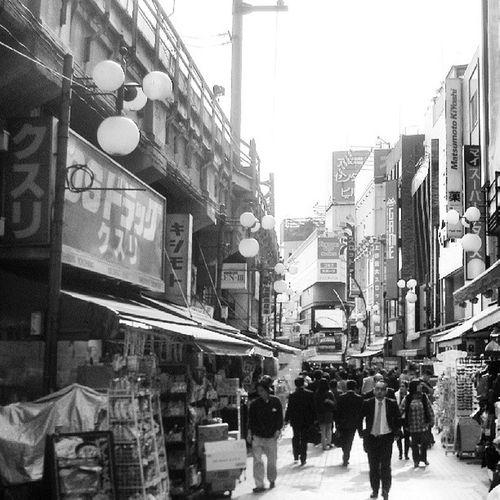 Blanco & Negro  Japan Japon Paisaje Paisaje Japones PAISAJE URBANO Calle Black & White