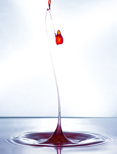 Close-up Day Drink Drop Freshness High-speed Photography Indoors  Liquid Motion Nature No People Red Splashing Water Waterfront White Background