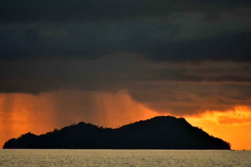 Water Lava Mountain Sea Sky