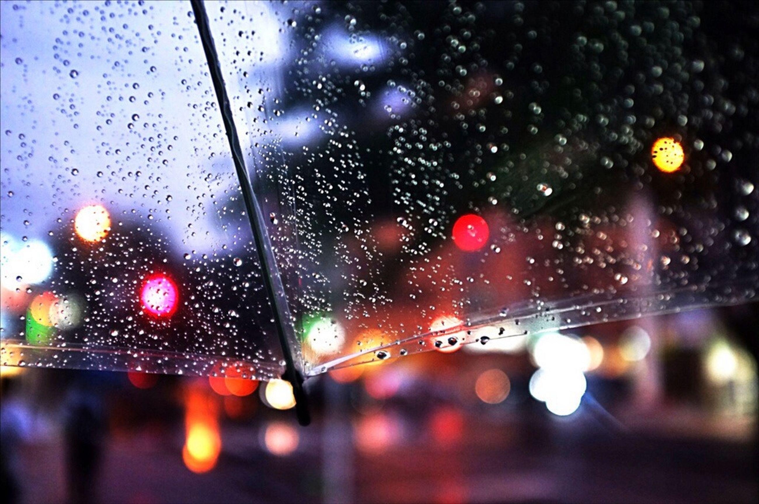 drop, wet, water, rain, transparent, focus on foreground, raindrop, window, glass - material, close-up, indoors, season, illuminated, water drop, weather, defocused, droplet, fragility, no people, car