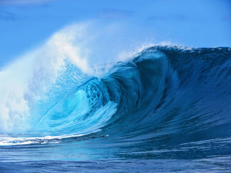 Power In Nature Wave Sea Blue Motion Crash A New Beginning