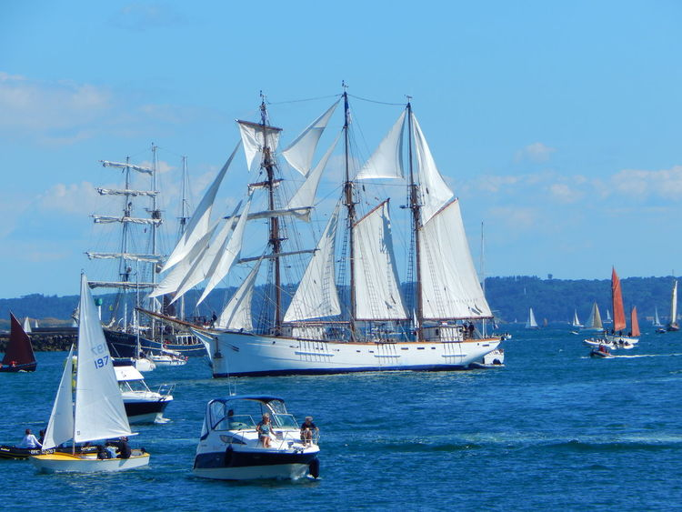 Adventure Club Blue Boat Brest Brest2016 Canvas Day Event France Journey Mast Mode Of Transport Nature Nautical Vessel No People On The Way Outdoors Sailboat Sailing Sea Ship Sky Transportation Water Waterfront