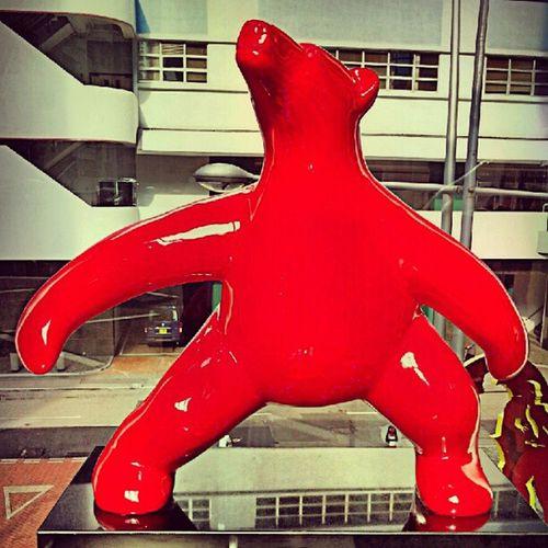 It's a Dancing red Polar  Bear