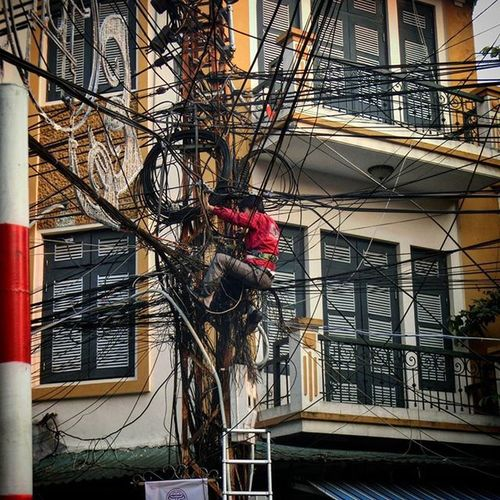 Vietnam Hanoi Electrican Badjob Notgood Saftyfirst