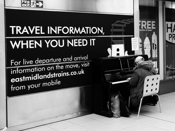 Piano in the Train Station Fee Free Music Eye4photography  Street Photography Blackandwhite