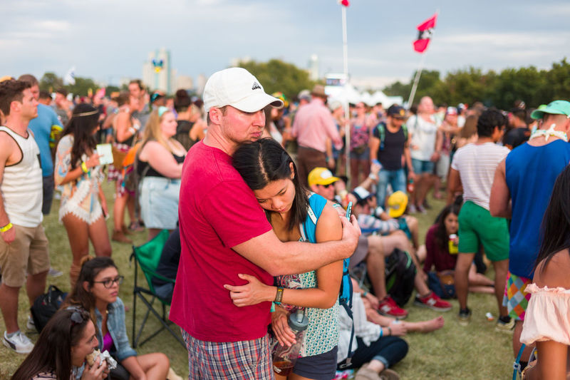 Acl Aclfest  Casual Clothing Couple Crowd Day Event Festival Focus On Foreground Large Group Of People Leisure Activity Lifestyles Love Outdoors Person Sitting Social Gathering Straight Photography Street Photography Togetherness Town Zilker Park