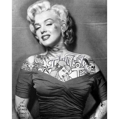 Marilyn Marilynmonroe Divas Tatuagem Mulherestatuadas pinupgirl tatoogirl tatooedwomen