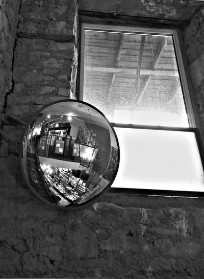 Mirror Convex Mirror Guelph Canada Stone Wall