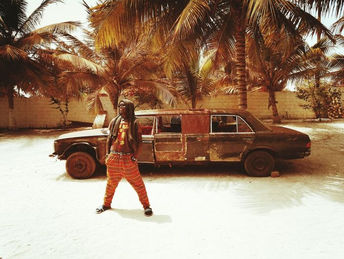 Africa Car Vintage Cars Limousine Senegalese Pimp Waxprint Senegal Vintage People Palmtree Lac Rose One Person Namaste ❤ Africa Day To Day Real People