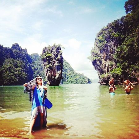 Cheese! Life Is A Beach Enjoying Life James Bond Island-Thailand Phuket Is This Naughty? For My Own Photo Journal Justtosayiloveyou Picturing Individuality Where I'd Rather Be... Travel Photography Nature_collection