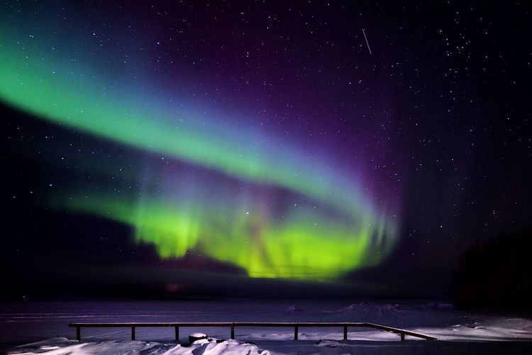 View Of Aurora Borealis At Night