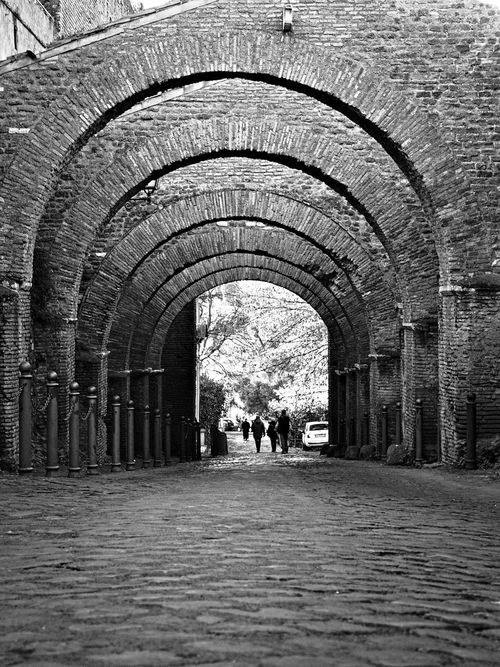 Arch Architecture Architecture Built Structure Cultural Heritage Day Indoors  Large Group Of People People Real People Romanic Architecture The Way Forward Tree Tunnel Moving Around Rome Stories From The City A New Beginning