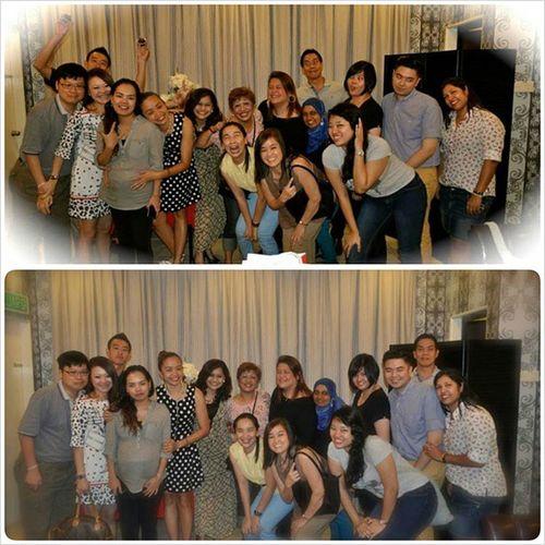 Bringing in the WACKY shot to Malaysia. Ms. GINA'S FAREWELL last night. Salesandmarketing RSRfamily