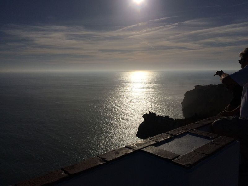 Sea Water Horizon Over Water Nature Sky Scenics Sunset Beauty In Nature Cloud - Sky Tranquil Scene Silhouette Built Structure Tranquility Outdoors No People Day Sith771 Portugal Nazaré  Surf EyeEmNewHere Travel Destinations The Secret Spaces Fresh On Eyeem  Freshonmarket2017