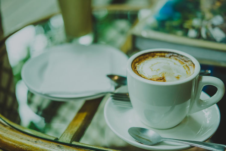 Chocolate Drink Latte Shop Beverage Caffeine Espresso Hot Nature Aroma Barista Cafe Cappuccino Closeup Coffee Coffee - Drink Coffee Cup Cup Drink Foam Food And Drink Fresh Table Tablecloth