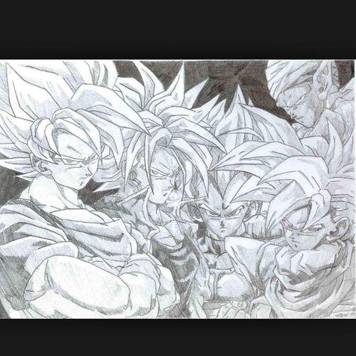 Just finished drawing this. It came out good I'm proud of myself Saiyans Anime Animesketch  Picolo socool dbz goku vegita majinbuu majinvegeta gohan krillin Yamcha ss1 ss2 ss3 ssg ssgssgoku vegito gotenks dragonballresurrectionf