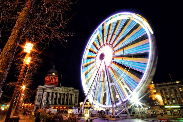 Nottingham at night! Ferris Wheel Outdoors a6000 Arts Culture And Entertainment EyeEmNewHere