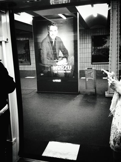 Just looking around and beeing caught by this handsam man ;-) Notes From The Underground Commuting Public Transportation Eye4photography  Berliner Ansichten Streetphotography My Fuckin Berlin Bw_collection Fortheloveofblackandwhite Blackandwhite