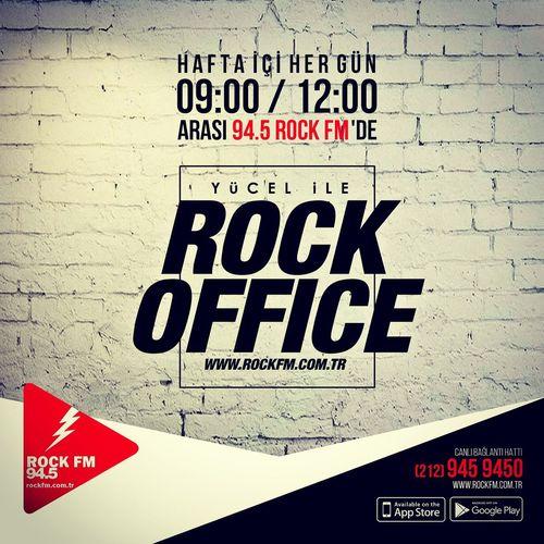 94.5 Rock Fm de Rock Office devam ediyor. Rock Rockfm Rock N' Roll  Rockfm94.5 Hardrock Heavy Metal Indie Rock SoftRock Progressiverock Punkrock Rockoffice 🎤🎣🎙
