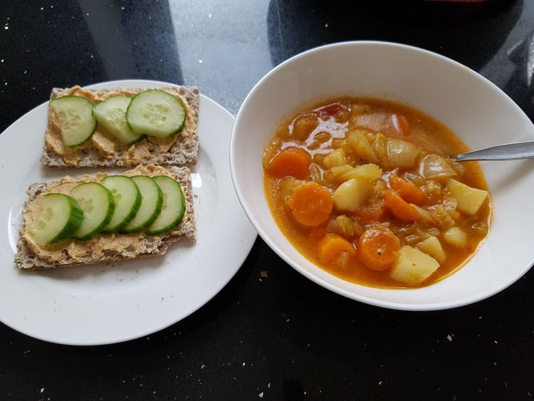 Cucumber Crispbread  Soup Stew Food And Drink Healthy Eating Home Cooking Fruit