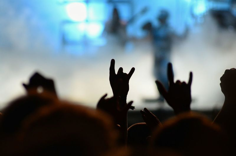 Concert Photography Heavy Metal Heands Signs Crowd Scene Band People Together Festive Season Music Brings Us Together TakeoverMusic