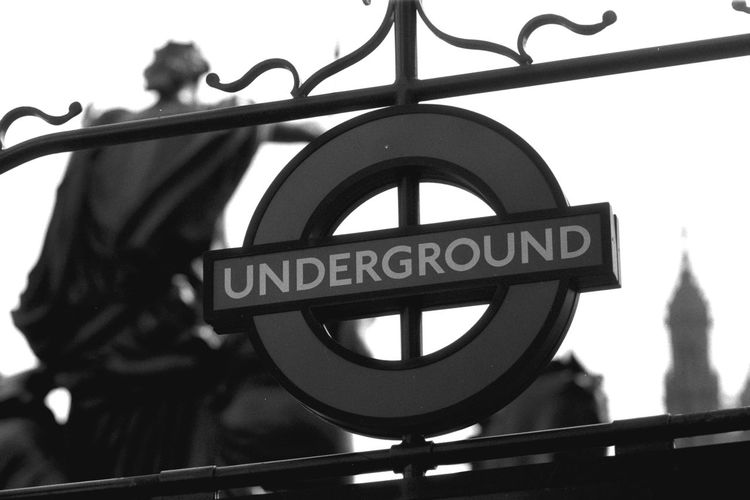Black And White Photography London Sign Underground Signs No People