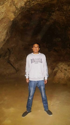 Inside the buddah cave old place....