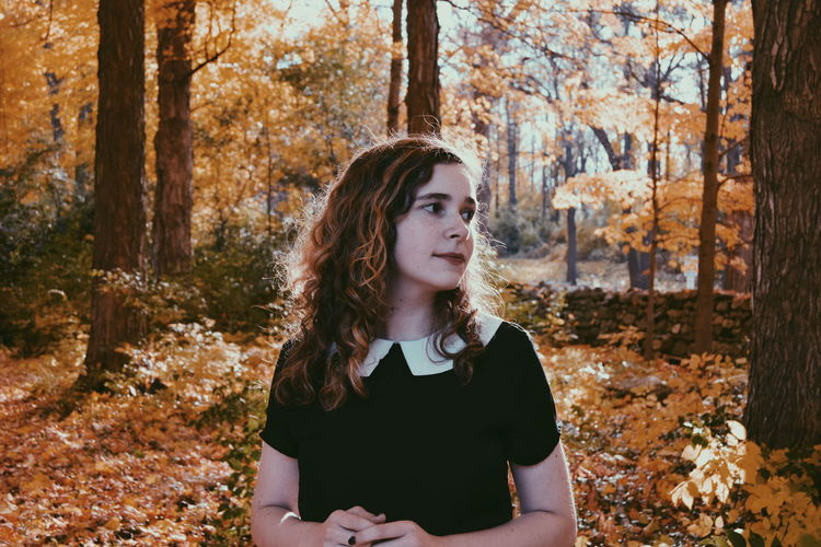 Portrait Of Teenage Girl In Autumn