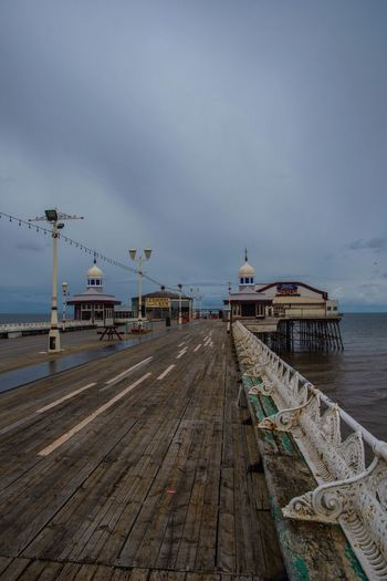Once, one of the busiest of The attractions in Blackpool. Unfortunately, now just a deserted, decrepit place, in serious need of refurbishment. Pier Blackpool Blackpool North Pier Wood - Material Architecture Nikon Photography Is My Escape From Reality! Malephotographerofthemonth Nikon Photography Atmospheric Mood Restoration Restoration In Progress