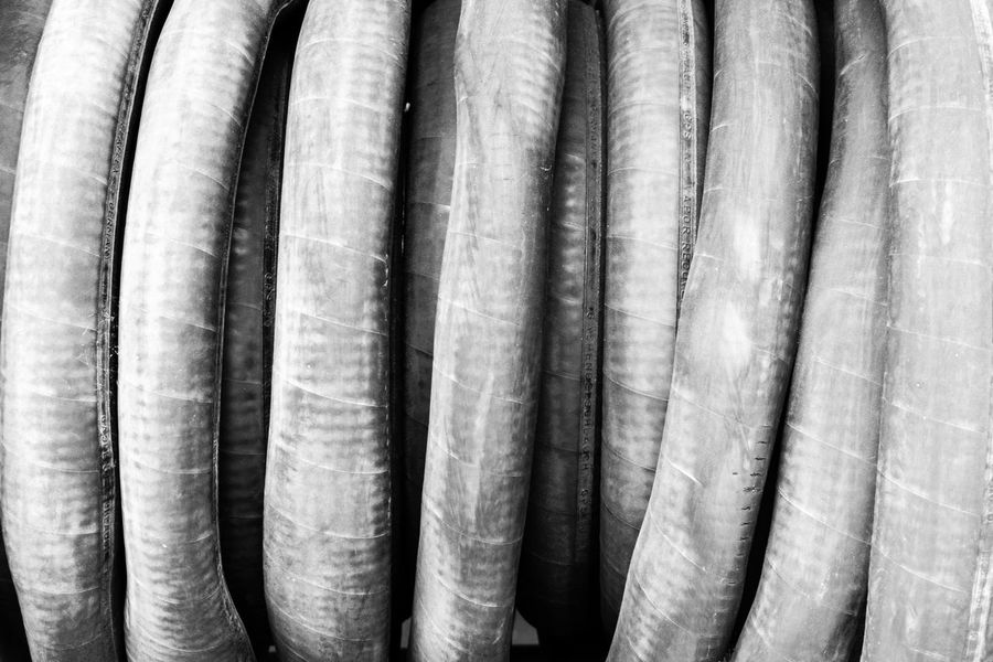 Abstract Close-up Contrast Hose Pipe Water