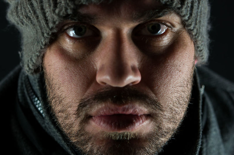 Portrait Headshot One Man Only Looking At Camera Human Face Only MenAdults Only Guy Hat Knitted Hat Winter selfportrait Selfportrait Self Portrait Knitted  Blue Eyes Beard The Portraitist - 2017 EyeEm Awards
